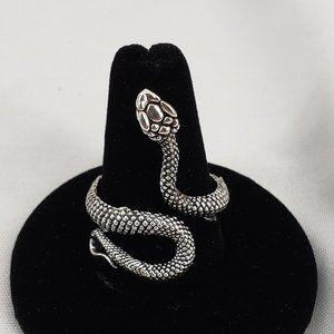 Silvertone Snake Ring